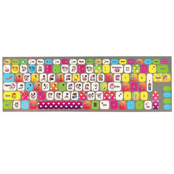 برچسب حروف فارسی کیبورد طرح یونیکورن کد 003