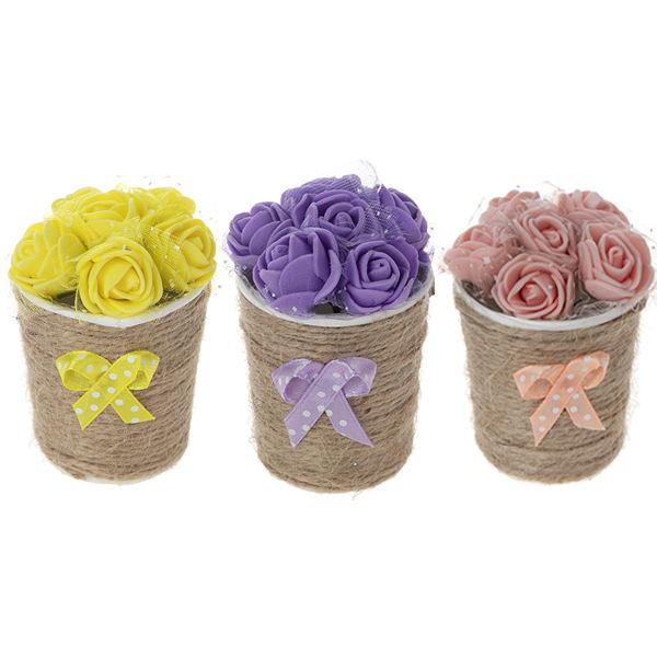 گلدان گل مصنوعی مدل MOHAMADI-3 بسته 3 عددی