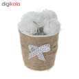 گلدان گل مصنوعی مدل MOHAMADI-3 بسته 3 عددی thumb 1