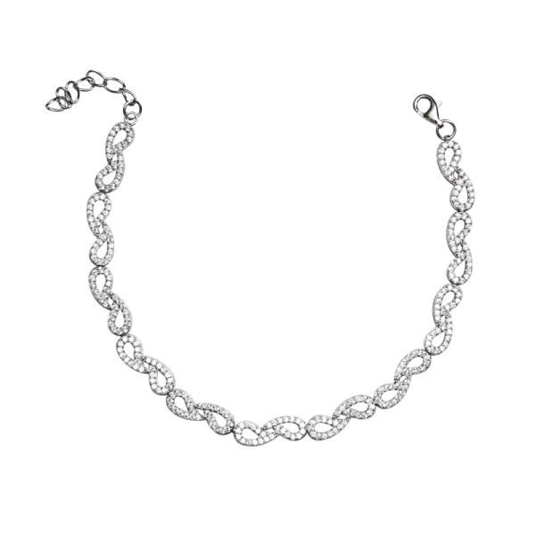 دستبند نقره زنانه شهر جواهر مدل SJ-BC035