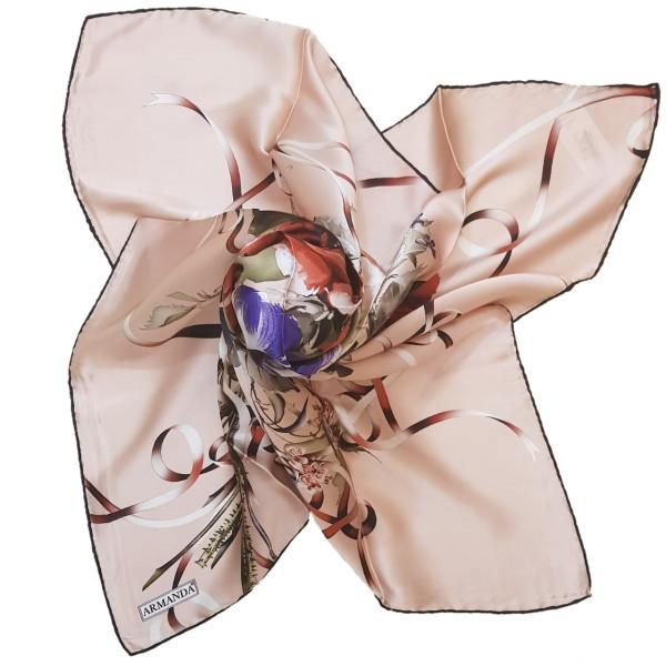 روسری زنانه آرماندا طرح برگ و گل کد RD90127 سایز M