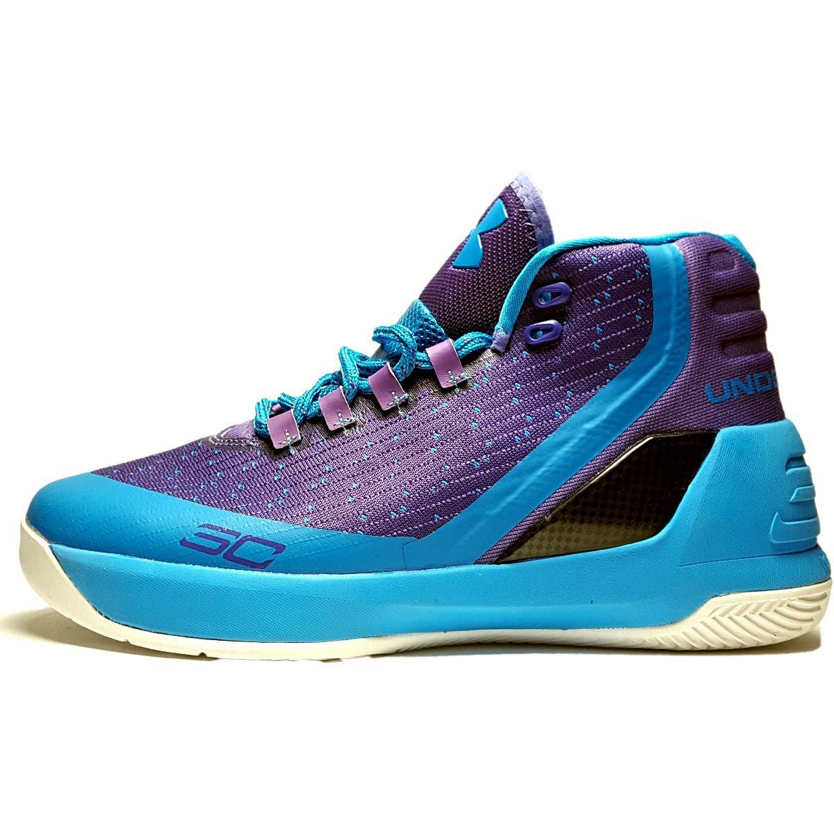 کفش نیم ساق آندرآرمور مدل CURRY 3 Purple Blue