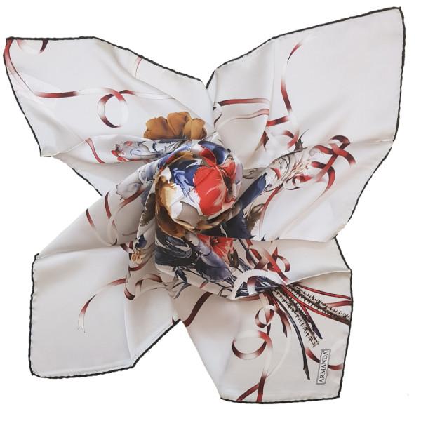 روسری زنانه آرماندا طرح برگ و گل کد RD90128 سایز M