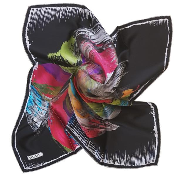 روسری زنانه آرماندا طرح برگ و گل کد RD90129 سایز M
