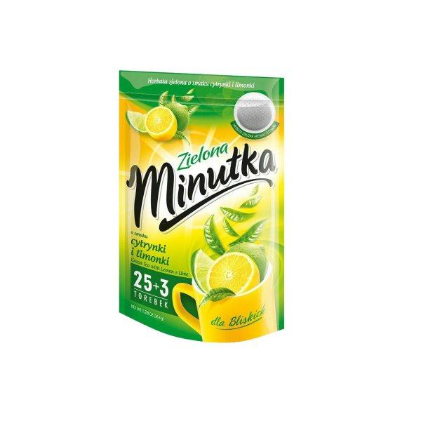چای سبز مینوتکا مدل لیمو مقدار 36 گرمی