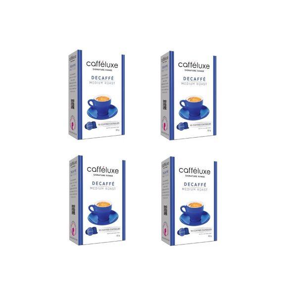 کپسول قهوه دستگاه نسپرسو کافه لوکس4 جعبه  مدل Decaffe Medium Roast