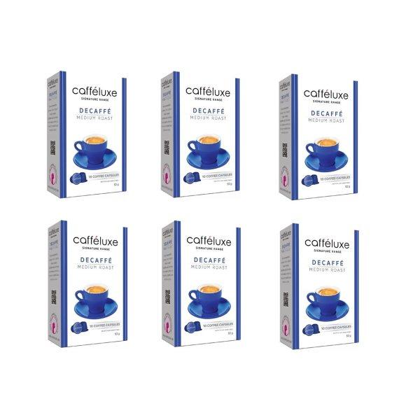 کپسول قهوه دستگاه نسپرسو کافه لوکس مدل Decaffe Medium Roast بسته 6 عددی