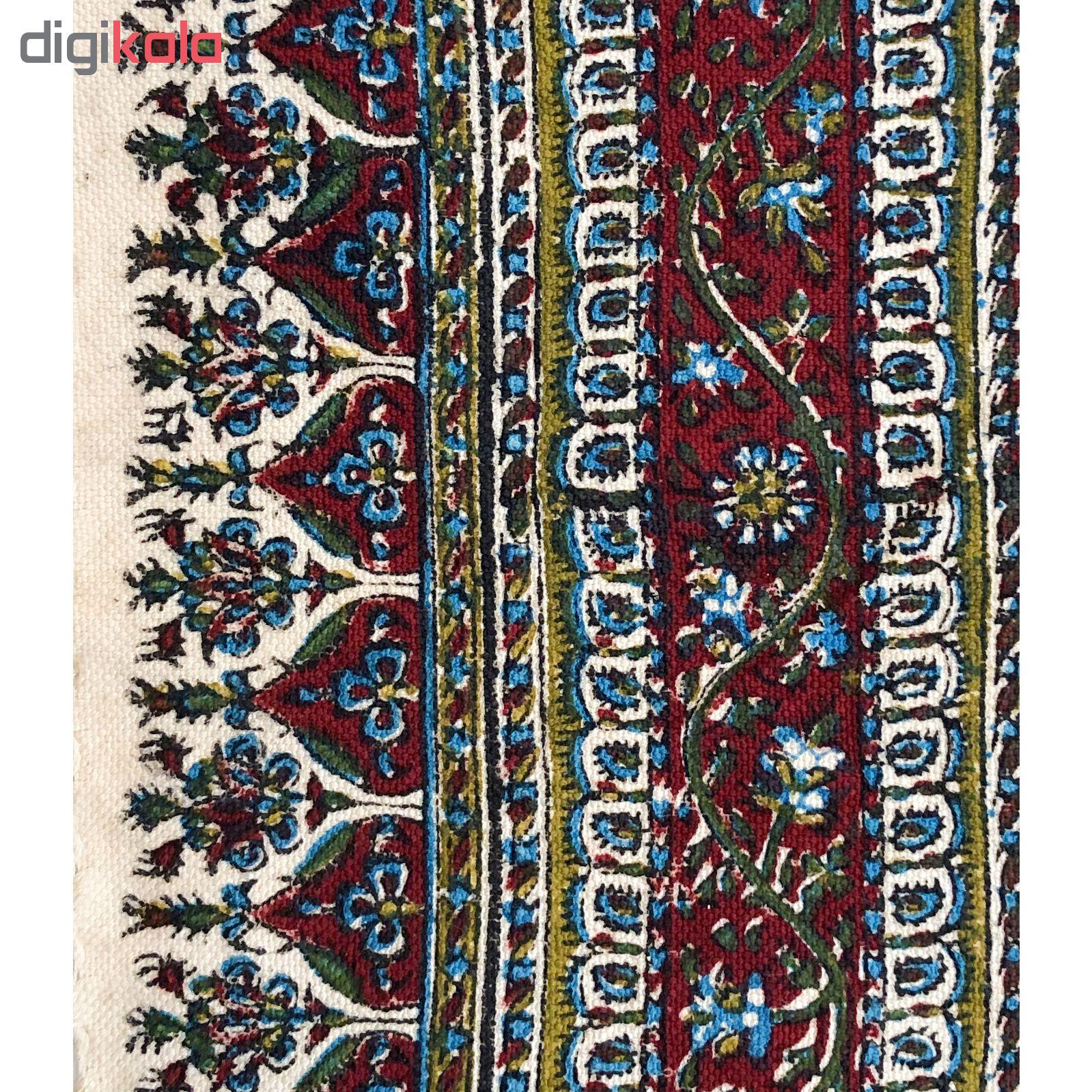خرید                      رومیزی قلمكار ممتاز اصفهان  اثر عطريان طرح خشتي مدل  G163