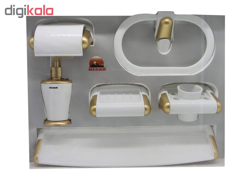 ست سرویس بهداشتی 6 پارچه نگار مدل 807 به همراه آینه main 1 3