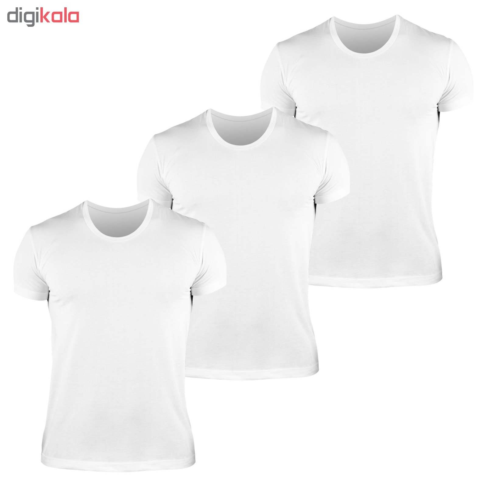 زیرپوش مردانه کیان تن پوش مدل U Neck Shirt Classic W مجموعه ۳ عددی main 1 1