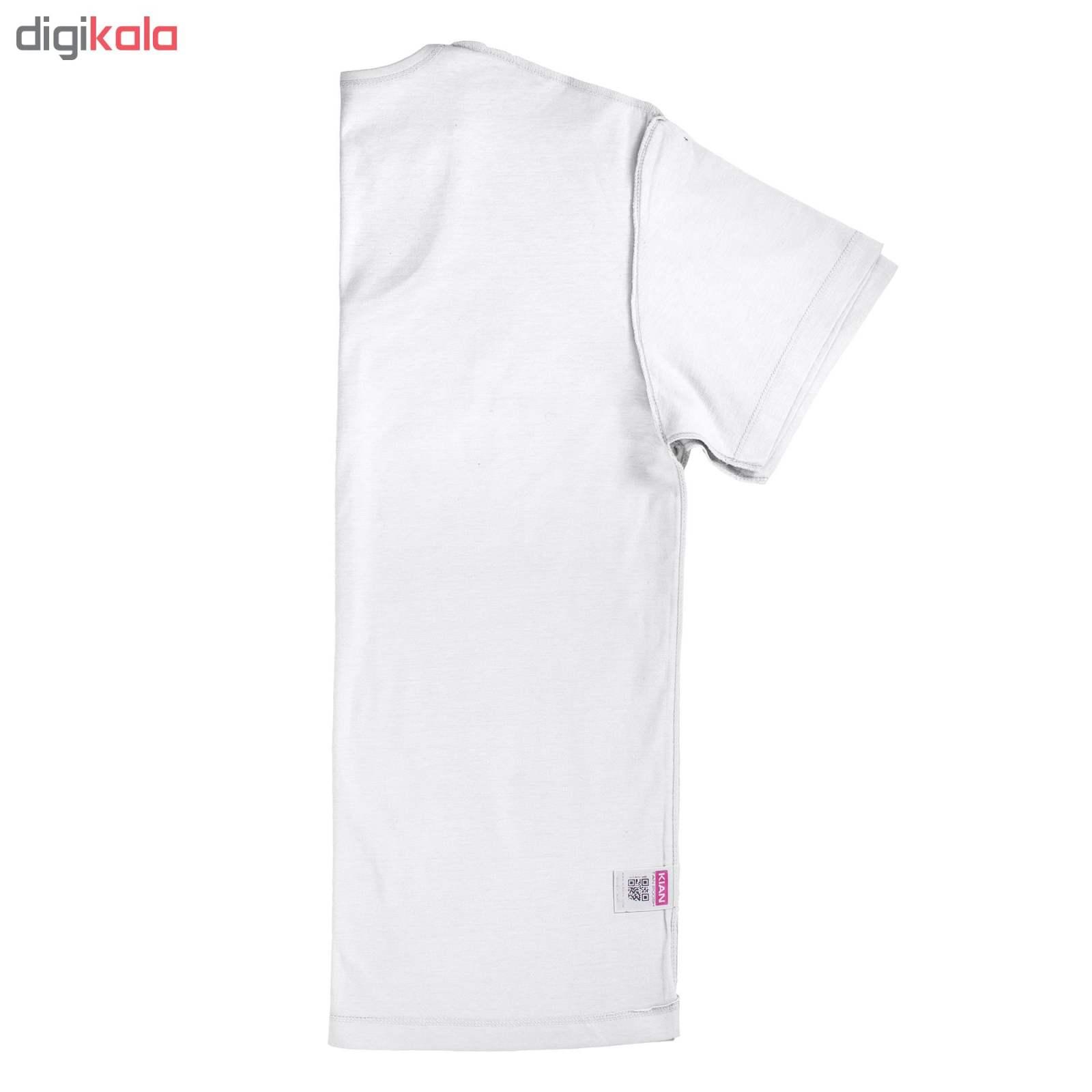 زیرپوش مردانه کیان تن پوش مدل U Neck Shirt Classic W مجموعه ۳ عددی main 1 2