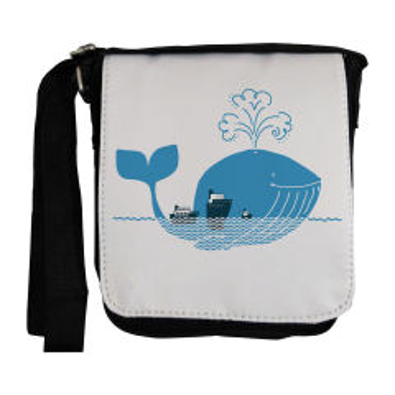 کیف دوشی مردانه طرح نهنگ آبی مدل EKM15