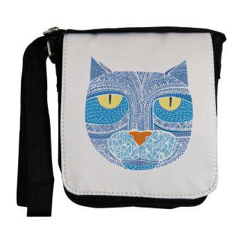 کیف دوشی مردانه طرح گربه آبی مدل EKM17