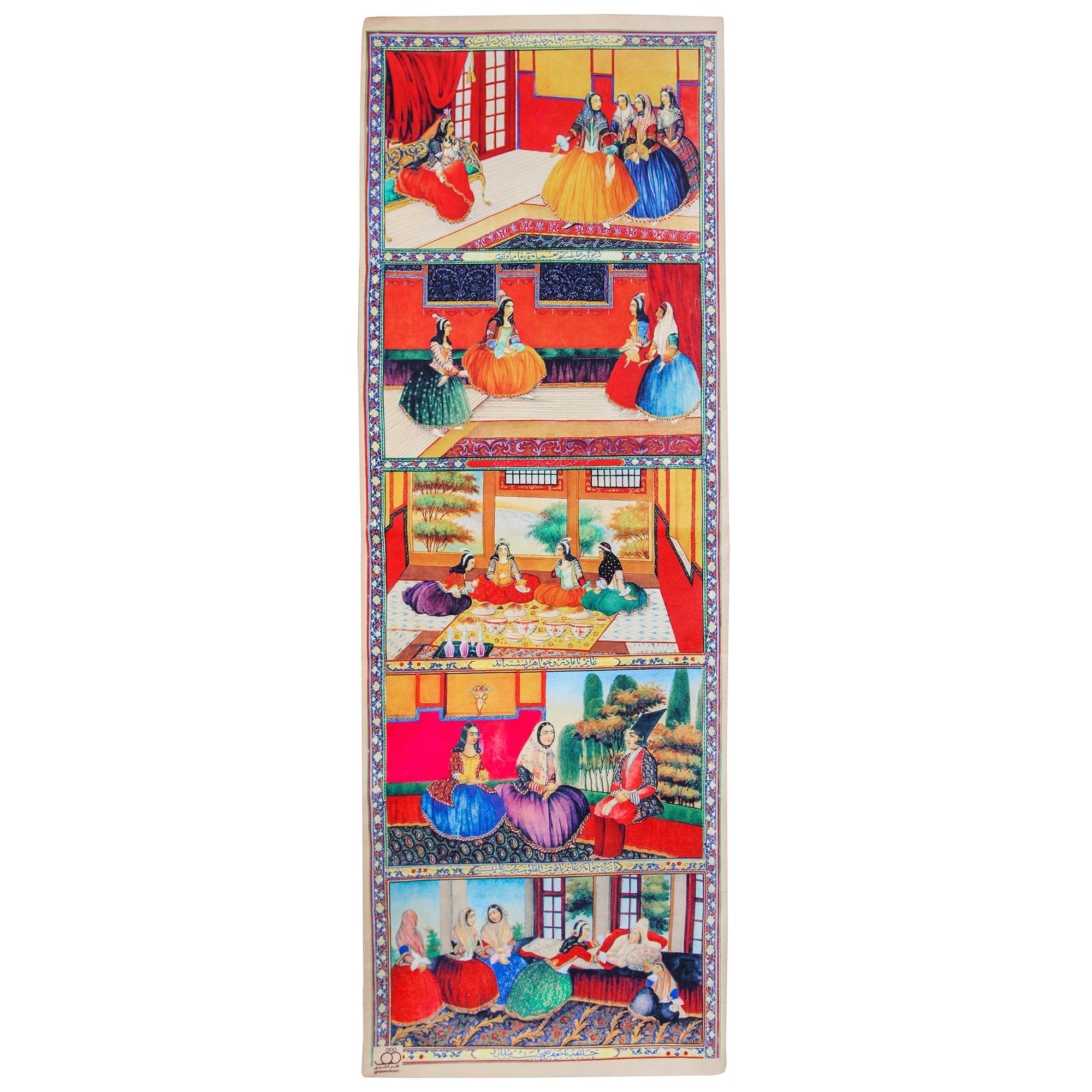 عکس رانر گالری قلم فلزی طرح زنان قاجار کد 256067