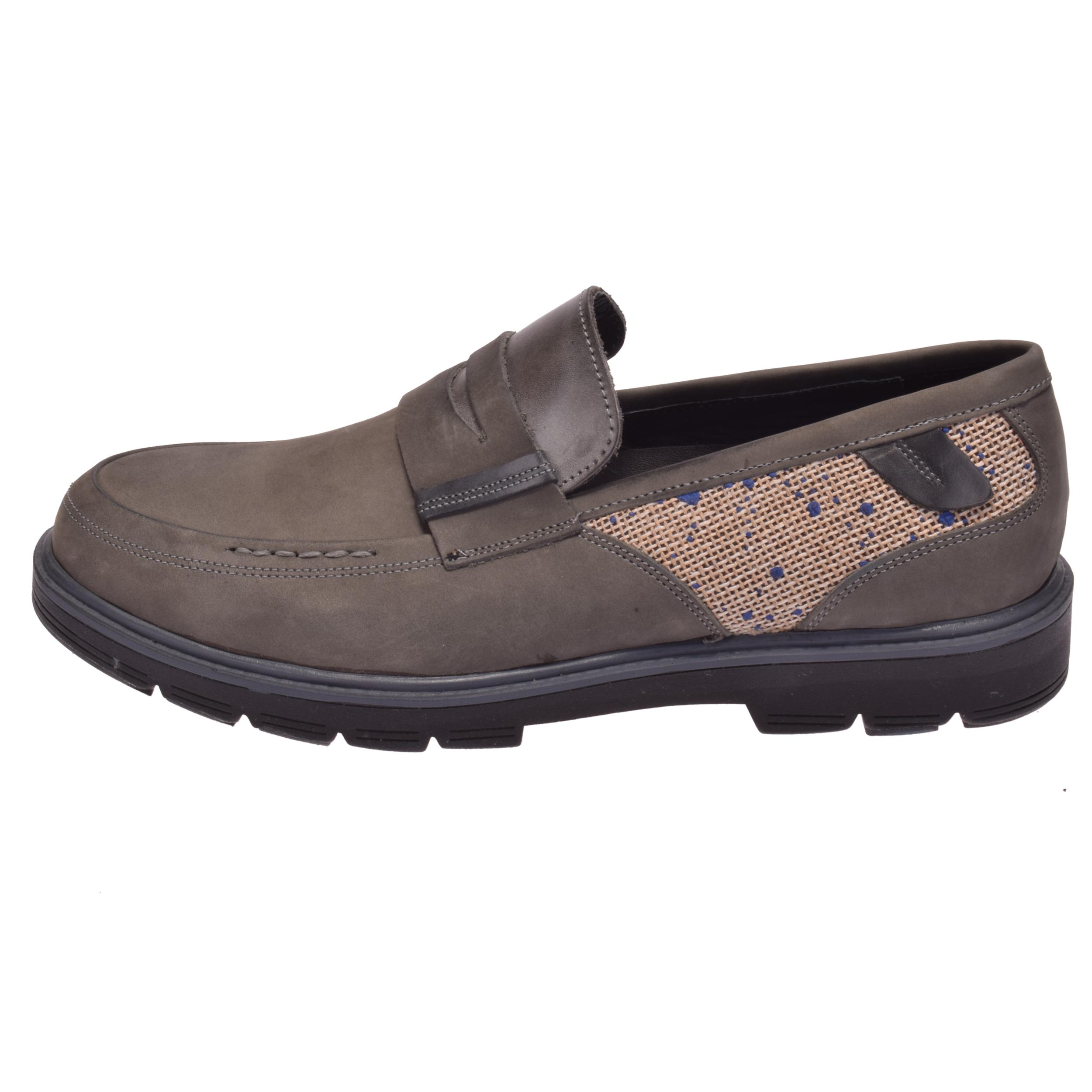 کفش مردانه کد 144 رنگ طوسی