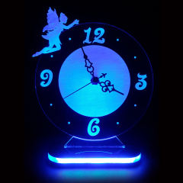 چراغ خواب طرح ساعت رومیزی کد 1063