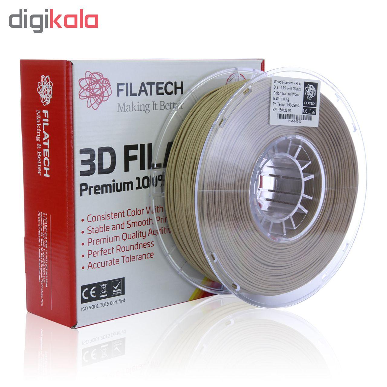 قیمت                      فیلامنت  پرینتر سه بعدی Wood-PLA فیلاتک مدل PL121 قطر 1.75 میلی متر وزن 1 کیلوگرم