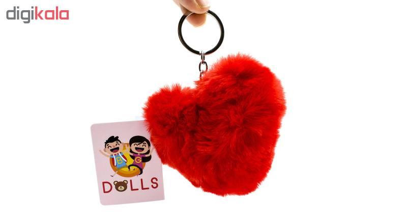 جاکلیدی زنانه بی جی دالز طرح قلب کد R تک سایز