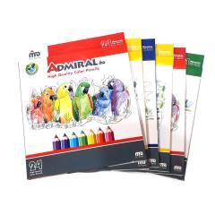 مداد رنگی 24 رنگ آدمیرال کد 761c بسته 6 عددی