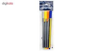 روان نویس استدلر مدل Triplus Fineliner بسته 4 عددی  Staedtler Triplus Fineliner Rollerball Pen Pac