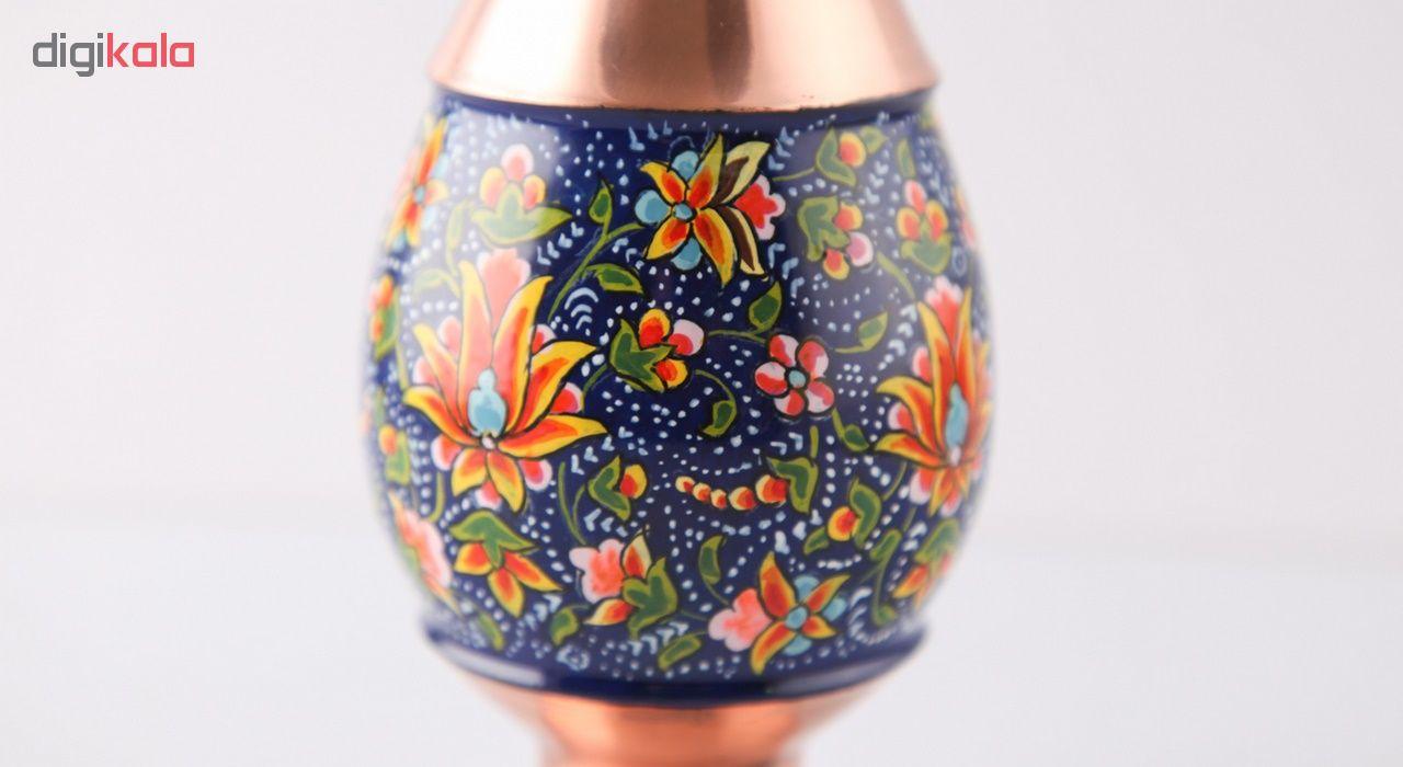 خرید                      گلدان صراحی مس و پرداز اثر ابوالقاسمی کد 170210