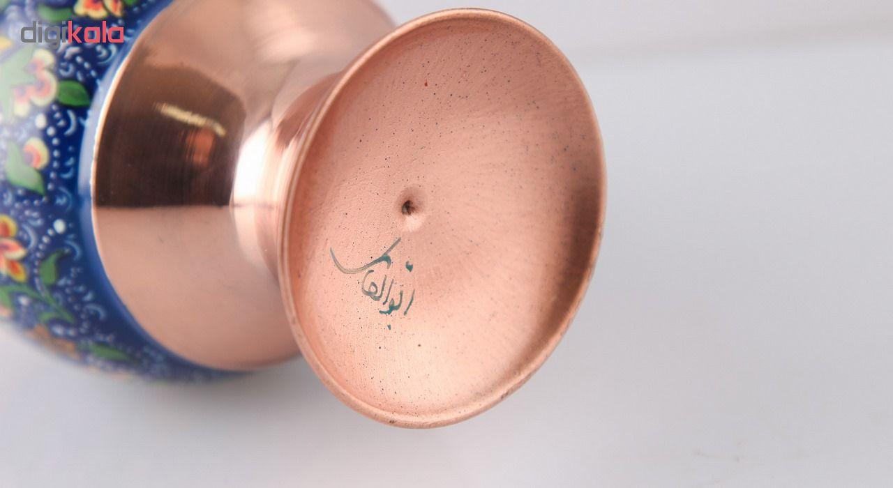 خرید                      گلدان صراحی مس و پرداز اثر ابوالقاسمی کد 170212