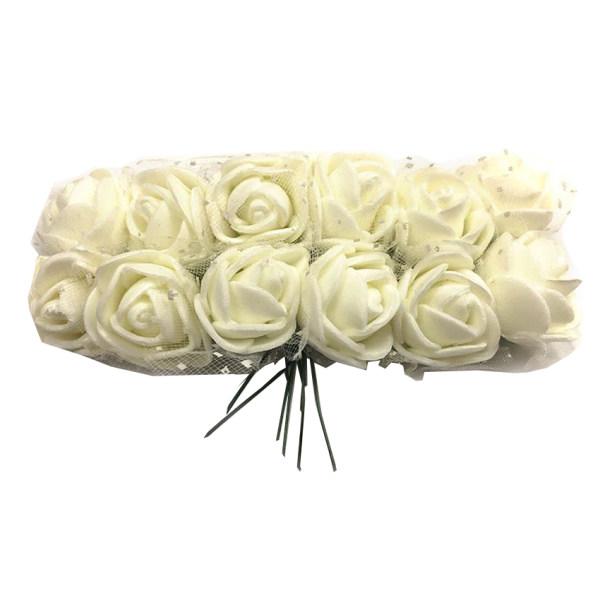 گل تزیینی فومی مدل توردار بسته 144 عددی