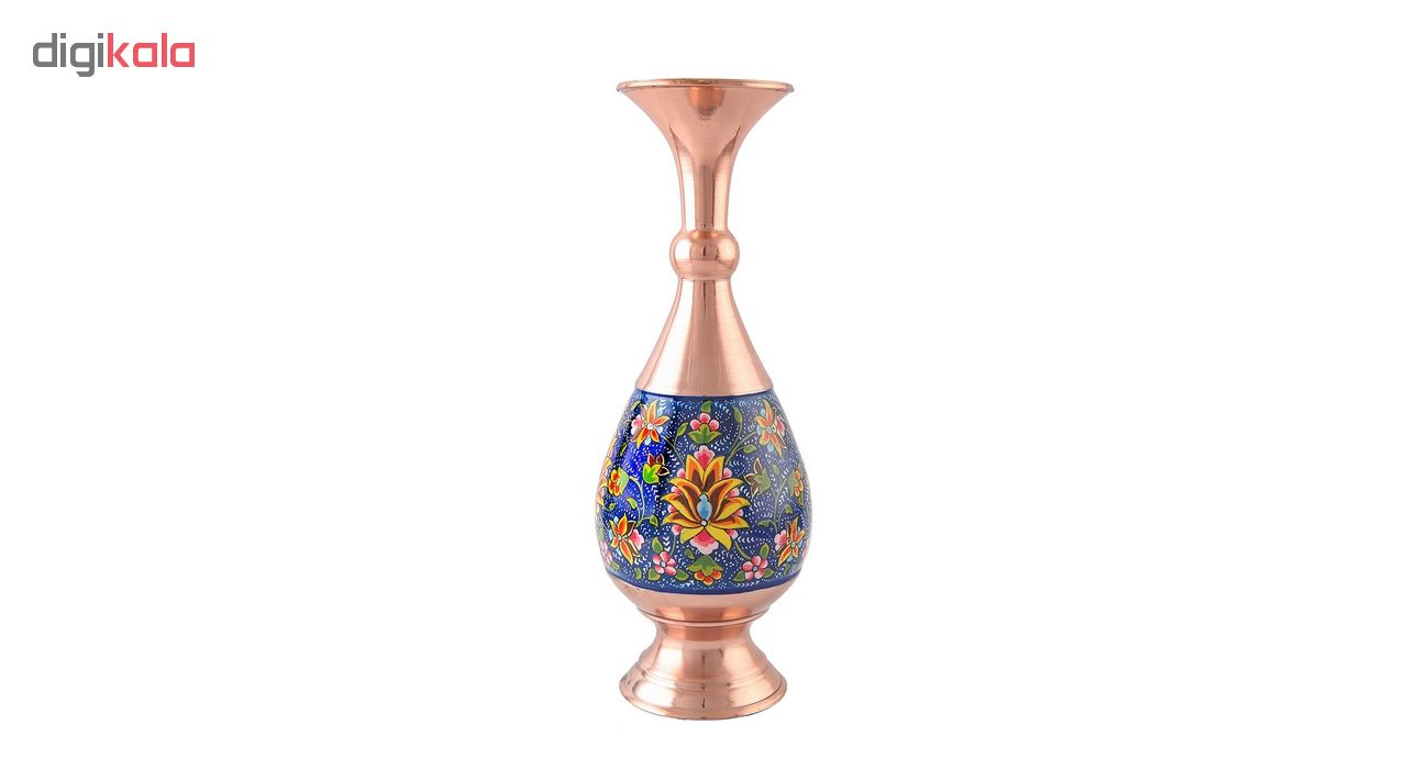 خرید                      گلدان صراحی مس و پرداز اثر ابوالقاسمی کد 170218