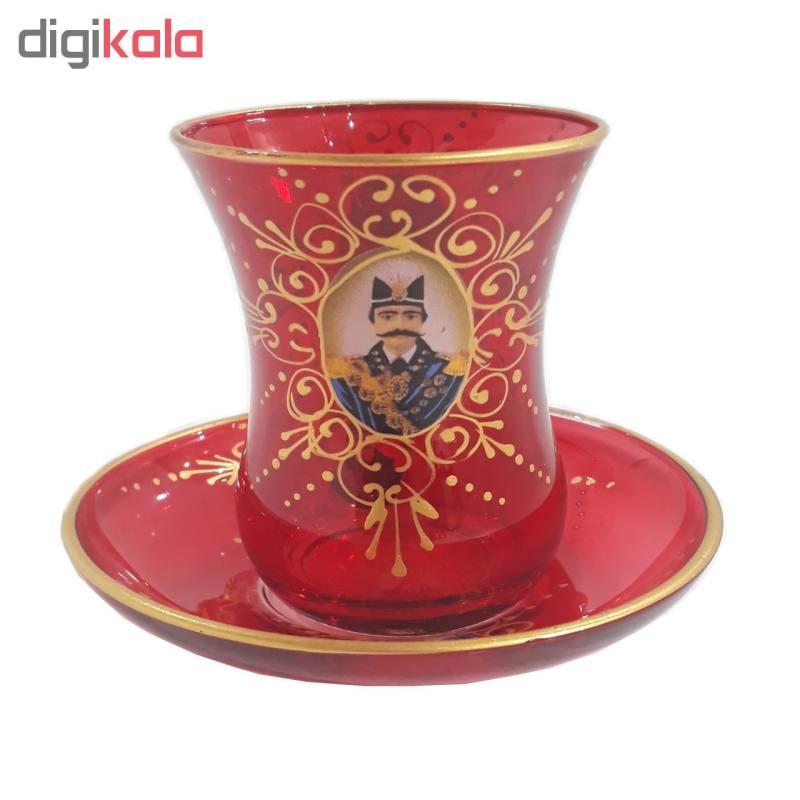 سرویس چای خوری 15پارچه طرح شاه عباسی