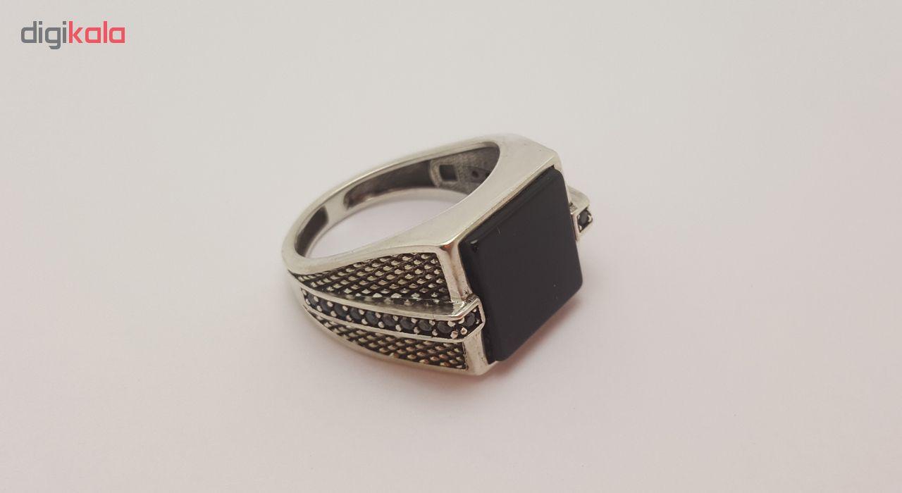 انگشتر نقره مردانه بلوو استون کد 3971267-65