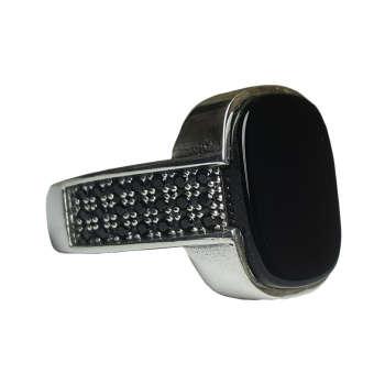 انگشتر نقره مردانه بلو استون کد 3971103-63