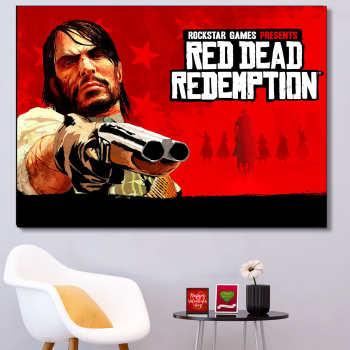 تابلو شاسی گالری استاربوی طرح بازی Red Dead Redemption مدل Game 25