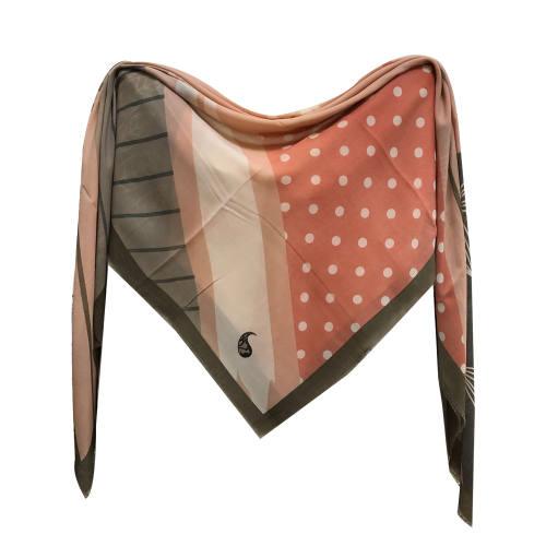 روسری زنانه نخی شاین  ریشه پرزی قواره 140  کد 1015