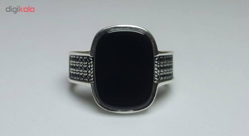 انگشتر نقره مردانه بلو استون کد 3971103-59