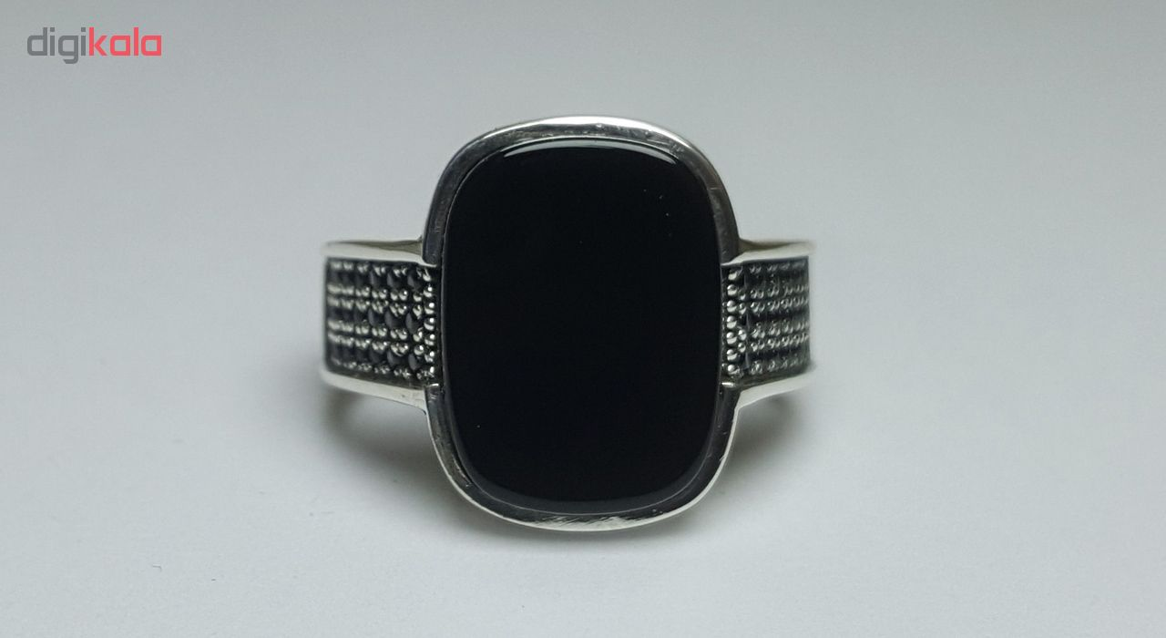 انگشتر نقره مردانه بلو استون کد 3971103-65
