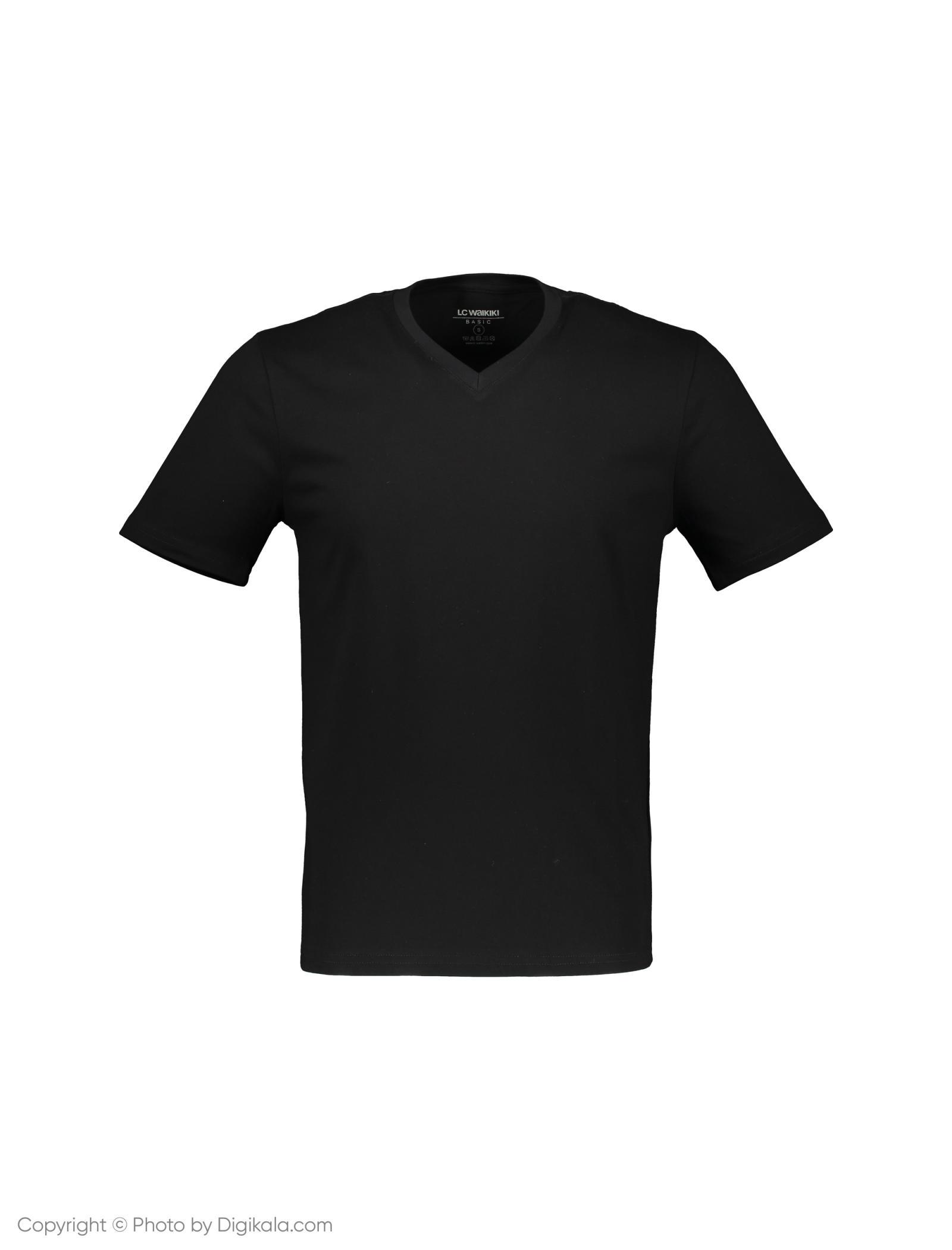تی شرت مردانه ال سی وایکیکی مدل 9S4917Z8-L6T -  - 1