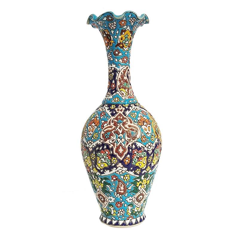 گلدان میناکاری طرح اسلیمی 31 سانتی کد 1504087