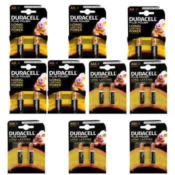 باتری قلمی و نیم قلمی دوراسل مدل Plus Power Duralock بسته 20 عددی