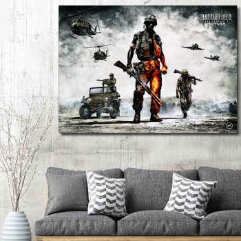 تابلو شاسی گالری استاربوی طرح Battlefield مدل بازی 07
