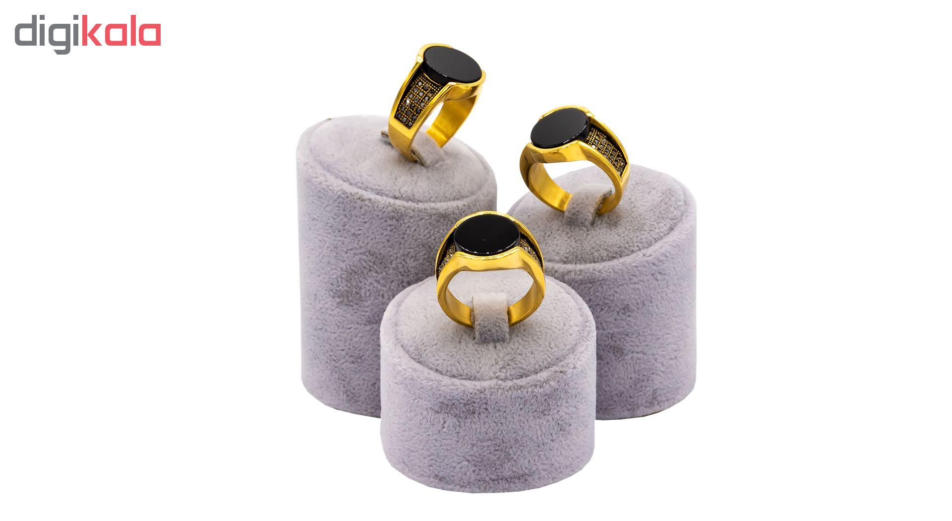 انگشتر مردانه بهارگالری مدل Round Luxury