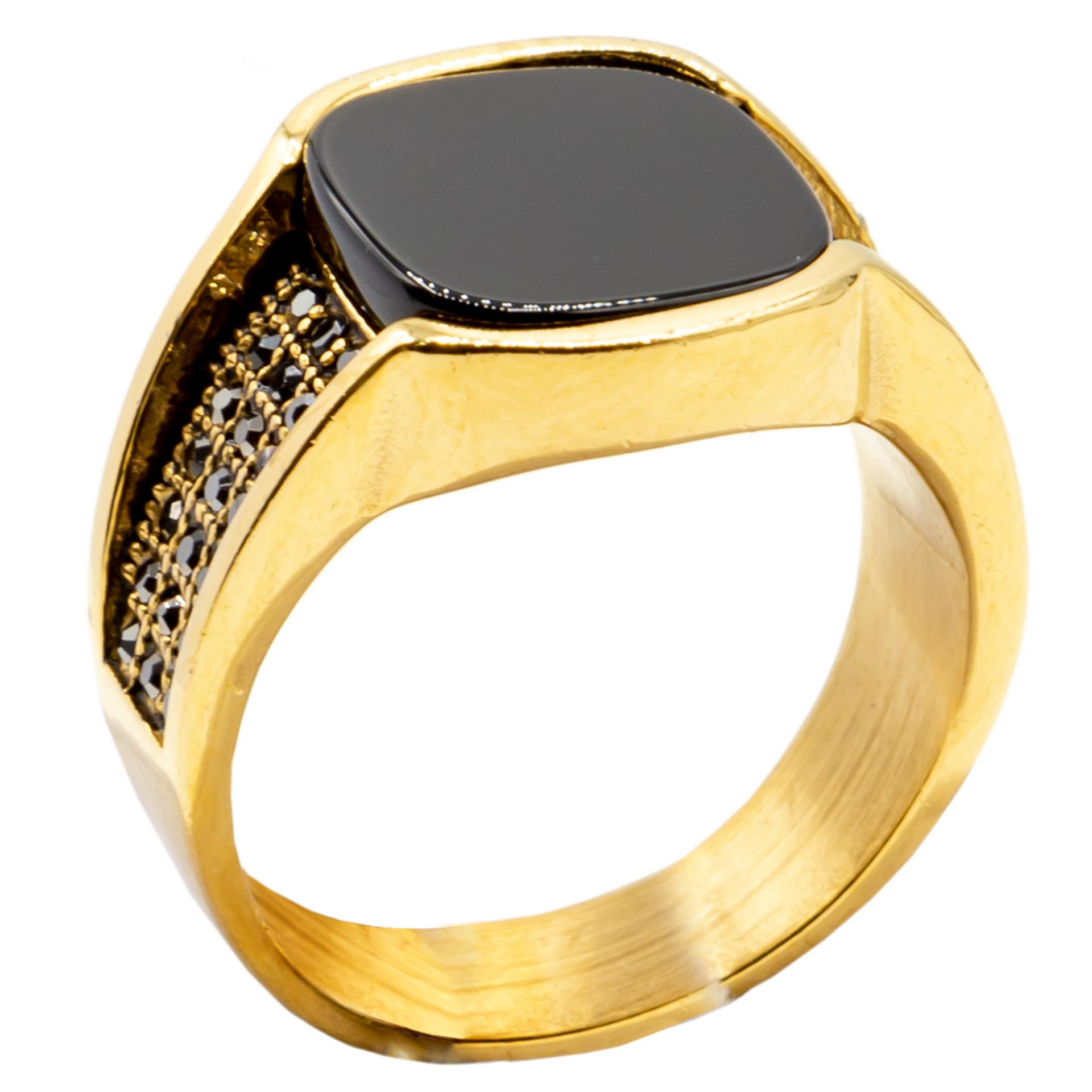 انگشتر مردانه بهارگالری مدل Square Luxury