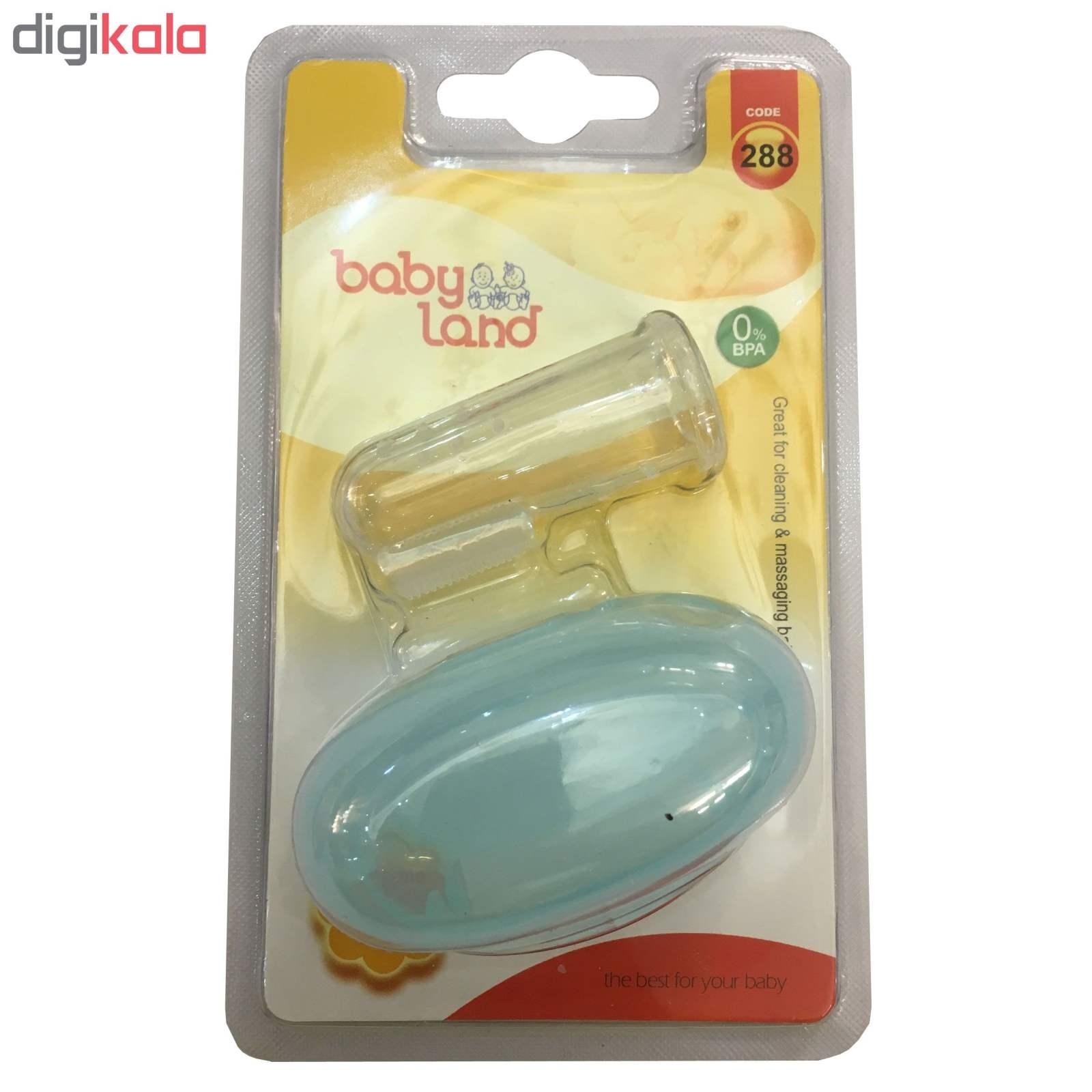 مسواک انگشتی نوزادی بیبی لند مدل 5004 main 1 2