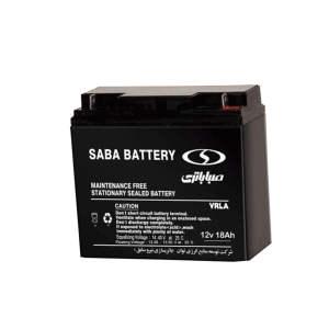 باتری 12 ولت 18 آمپر صبا باتری مدلSB