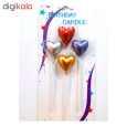 شمع تولد طرح قلب  کد 108 بسته 4 عددی thumb 1