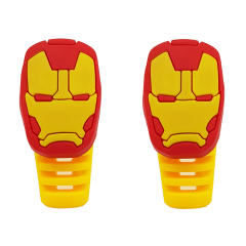 محافظ کابل شارژ طرح Iron Man کد B1 بسته دو عددی