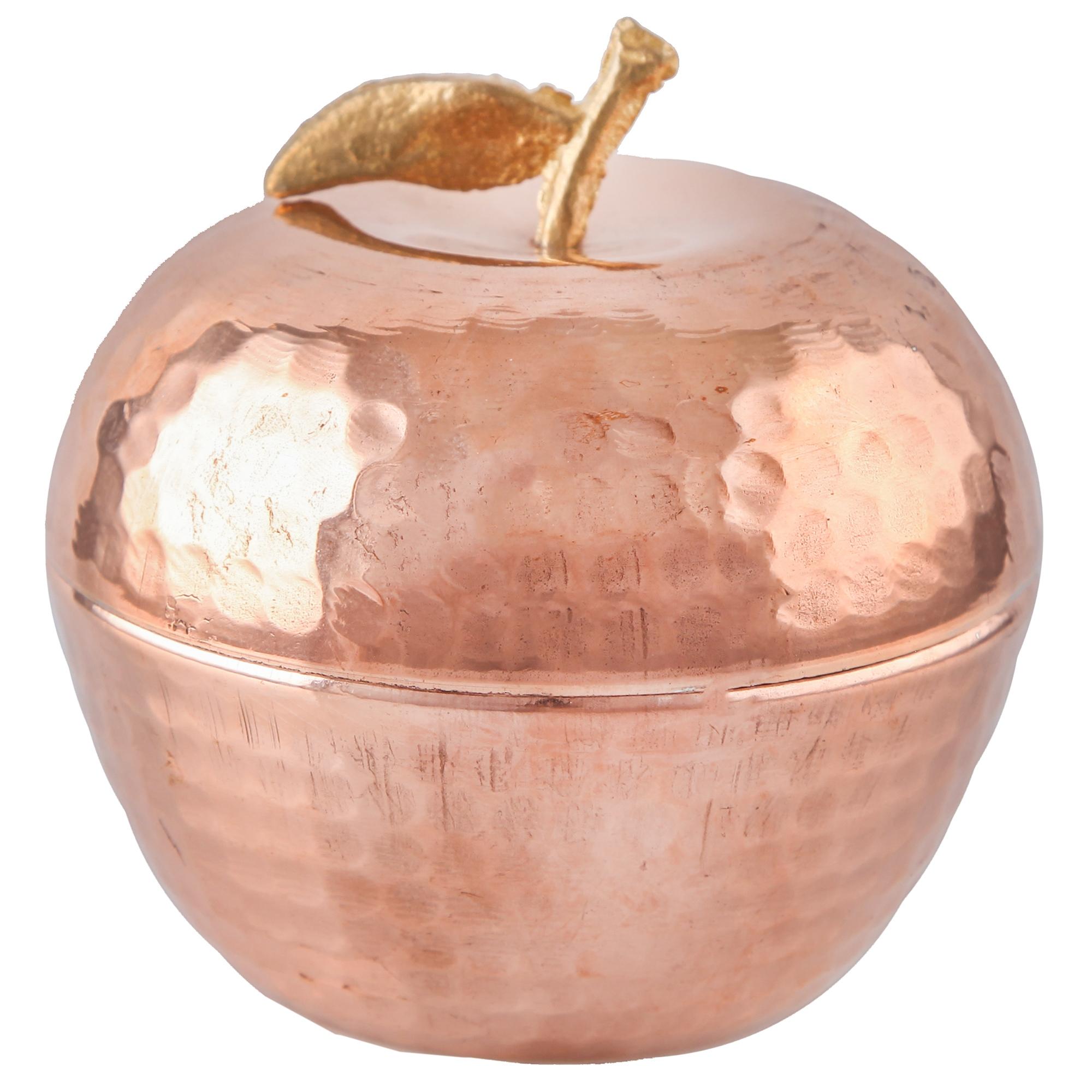 خرید                      قندان مسی گالری مثالین طرح سیب کد 149277