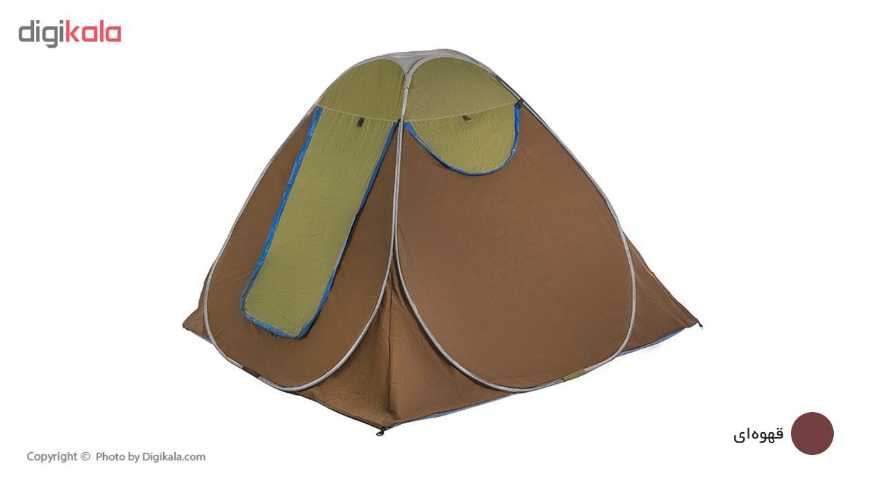 چادر مسافرتی 8 نفره آ آپکس طرح دو رنگ