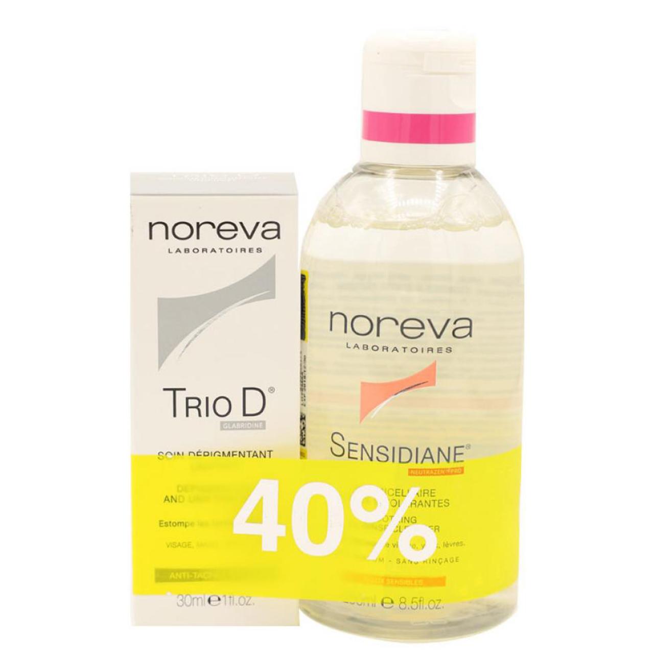 محلول پاک کننده صورت سن سی دیان نوروا به همراه ضد لک تریو دی نوروا