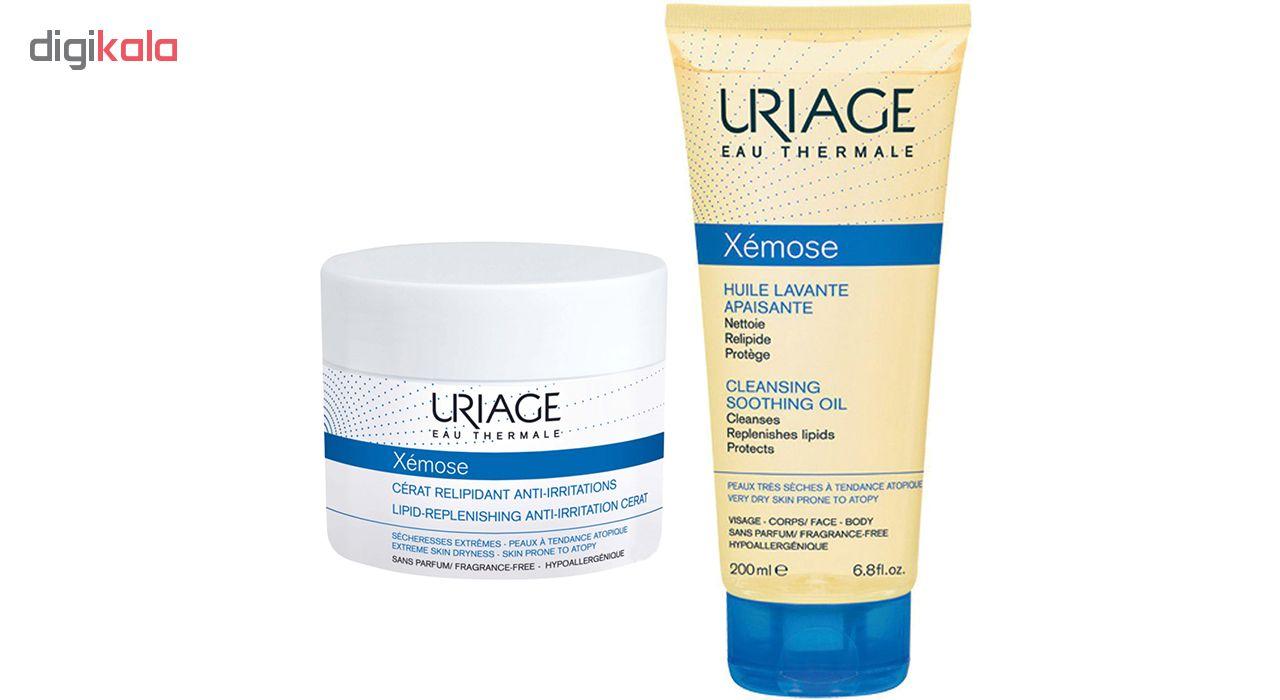 روغن پاک کننده صورت و بدن اوریاژ سری Xemose به همراه کرم تقویت کننده اوریاژ سری Xemose مدل Cerat