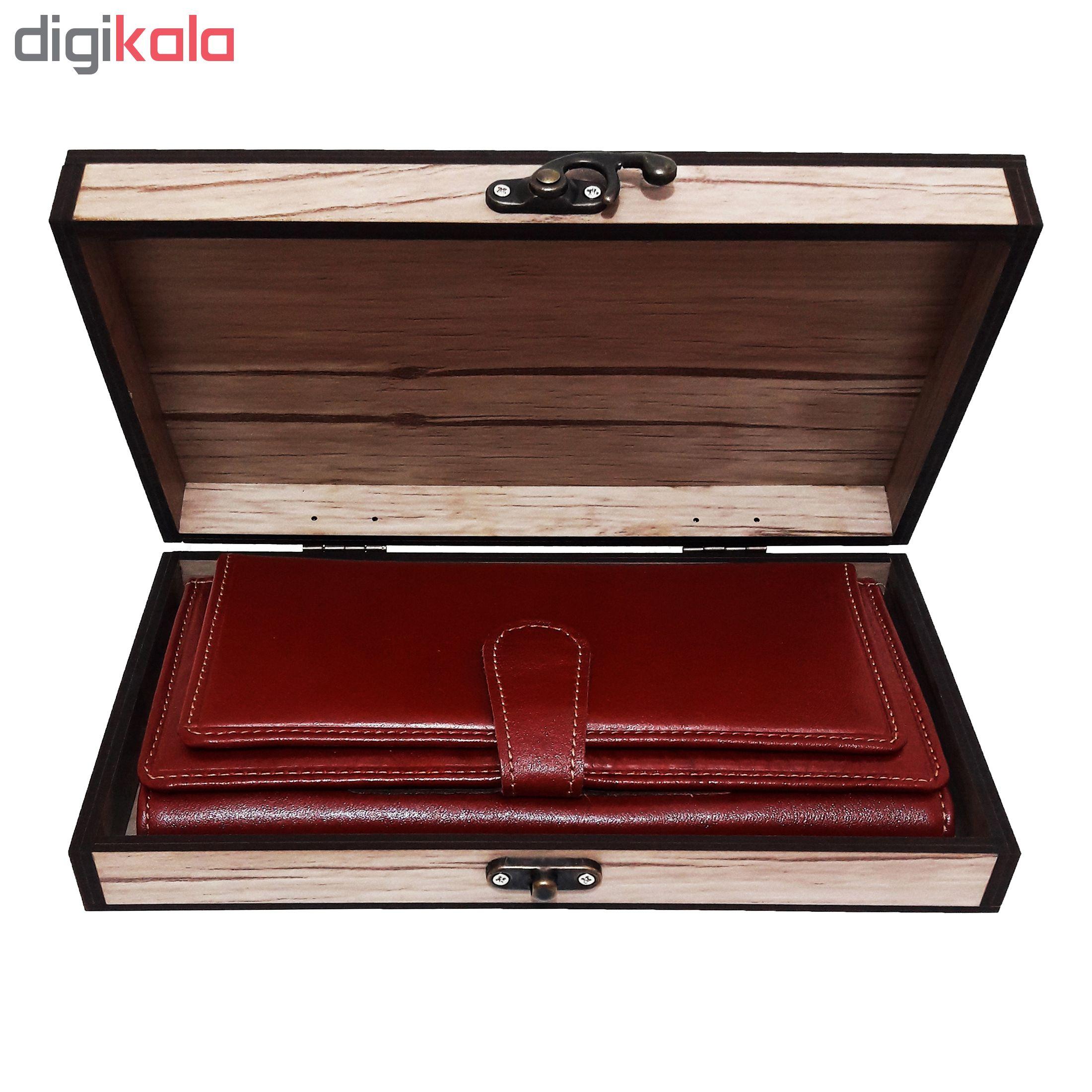 خرید                      جعبه هدیه چوبی کادویی آیهان باکس مدل 57